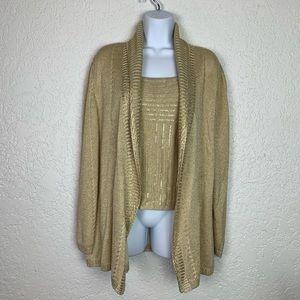 St. John Evening Size 14 gold sweater set